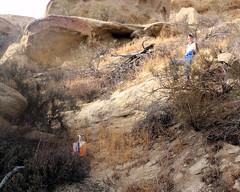 012 A Rapid Descent (saschmitz_earthlink_net) Tags: 2018 california orienteering vasquezrocks aguadulce losangelescounty laoc losangelesorienteeringclub