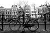 Bike Fence (YIP2) Tags: fence canal bike bicycle streetview road street bikes utrecht bw monochrome