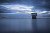 A Torre (nuno113) Tags: crepusculo water lake barragem anoitecer tower torre portugal longexposure