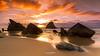 Visiting Adraga's Beach (enigmamcmxc) Tags: 2017 7d bruno canon enigmamcmxc pereira portugal adraga beach praia rocks rochas sand areia mar sea human humano sky céu sintra visit travel tourism turismo visitar viagem reflexo reflection