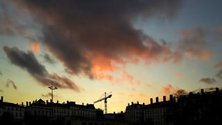 Lyon - Coucher de soleil