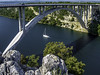 Adriatic coast Highway (Tony Tomlin) Tags: croatia adriatic europe highwaybridge arch yacht