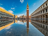 Venice Underwater (Michael Abid) Tags: venice sanmarco italy venezia acquaalta famous stmark water sea flood flooding tide venetian reflection campanile tower basilica day daylight city architecture ngc