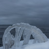 Bending (Mika Lehtinen) Tags: ice cold winter finland sea dark icicles