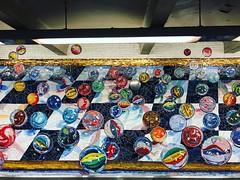 Subway Mosaic Marbles NYC (Christian Montone) Tags: nyc manhattan newyork newyorkcity montone christianmontone city urban mosaic 42ndstreet subway urbanart publicart