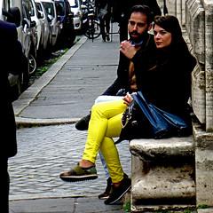 Roma, Via delle Quattro Fontane (pom'.) Tags: panasonicdmctz30 february 2017 rome roma lazio italia italy europeanunion people woman yellow 100 200 300 5000
