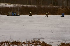 IT'S OFFICIAL..WINTER HAS ARRIVED IN OHIO (fstopfinatic) Tags: fishing cold ice lake park pentaxkx pentax18135 scene water shanty auger bass bluegill perch walleye outdoor rod reel line hook lure sled frozen freeze polar fridgid