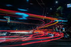 mission at croker street (pbo31) Tags: bayarea california nikon d810 color night dark january 2018 winter boury pbo31 dalycity sanmateocounty lightstream motion traffic roadway missionstreet bus red infinity black outermission