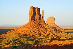 West Mitten in front of East Mitten, Monument Valley, Arizona (Andrey Sulitskiy) Tags: usa arizona monumentvalley