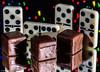 Dominosteine (J.Weyerhäuser) Tags: dominosteine schokolade studio bokeh spiegel blitz lebkuchen marzipan