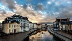Lys aan Gent (Didier Bottin) Tags: lys gand gent belgique belgium cityscape bridge pont water eau