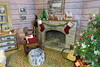 14. Fireplace (Foxy Belle) Tags: doll diorama christmas cabin barbie 16 lodge dollhouse miniature holiday log woodsy woods tree decoration