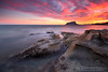 BALADRAR (Obikani) Tags: baladrar alicante benissa ifach calpe mediterráneo comunidadvalenciana españa beach cala sea mar rocks sunset colorful clouds peñón amazing beautiful longexposure