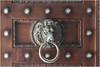 Heurtoir tête de lion (Pi-F) Tags: porte heurtoir ouverture bois métal anneau lion tête fauve egypte lecaire musée défense monument texture