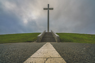 The Papal Cross. On a dull day.