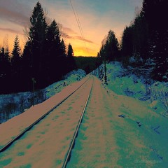 Is it 2018 I see over there? 😂 (evakongshavn) Tags: 7dwf sundaylights sunset railway winter winterwonderland winterwald winterlandscape wonderlandscape wonderfulworld afternoon snow frost glow new light white yellow orange golden ethereal earthnaturelife beautifulearth heavenonearth earthswonder gorgeous composition landscapephotography landscape landschaft paysage natur nature naturphotography naturescape naturelandscape naturephotography fantasticnature naturescenes scenery scenic dreamy mood colorful colourful frozen