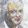 # 245 2018-01-04 (h e r m a n) Tags: herman illustratie tekening 10x10cm tegeltje drawing illustration karton carton cardboard kunst art portrait portret