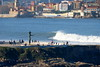 Gijón Bay (omar suarez asturias) Tags: gijonbay gijon asturias asturiasparaisonatural oviedo aviles paisaje surf surfing ciudad urbano 150600mm 150600 ola olas wave waves invierno borrasca surfer mar oceano canon españa spain europa