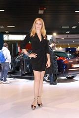 motorshow girl (themax2) Tags: 2010 legs comment highheels girl hostess bologna miniskirt motorshow expo short skirt