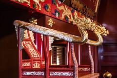 queen's chair (l e o j) Tags: canon eos kiss x2 rebel xsi 450d japan okinawa naha ryukyu king kingdom queen chair throne dragon gold