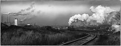 Mining Wasteland (Welsh Gold) Tags: sy locomotive mine waste train coal mining industrialised landscape pollution smoke stacks power station headframe fuxin liaoning province china