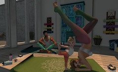 ❀❀❀ Family Yoga (Escente) Tags: sl secondlife family yoga