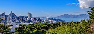 Russian Hill with Golden Gate Bridge