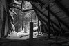 Attic (kentkirjonen) Tags: window fönster abandoned övergivet övergiven lumix fz300 old gammal sweden sverige dalarna ue decay förfall tegelsten tegelstenar brick bricks attic vind wood trä snow snö hydroelectric vattenkraft