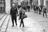 A man, his bird and a pigeon (Frank Fullard) Tags: frankfullard fullard candid street couple templebar dublin irish ireland cobblestones hands together monochrome people blackandwhite tourist visitor pigeon bird