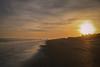 Sunset - Edisto Beach S.C. (DT's Photo Site - Anderson S.C.) Tags: canon 6d 24105mml lens edisto island atlantic surf coast lowcountry waves sun clouds vacation december south carolina palm trees pier people walk stroll seascape salt dog southernlife
