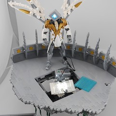 The Herald (alt view) (Anthony (The Secret Walrus) Wilson) Tags: lego moc afol bionicle harbinger angel robot creation tfol system
