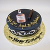 Hennessy and Cigar 301205 (Creative Cakes - Tinley Park) Tags: man cigar hennessy black fondant dude scroll