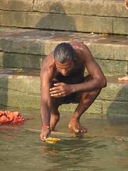 varanasi 2017 (gerben more) Tags: ganges ganga man varanasi india benares hairychest ghat