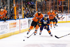 "Kansas City Mavericks vs. Colorado Eagles, December 16, 2017, Silverstein Eye Centers Arena, Independence, Missouri.  Photo: © John Howe / Howe Creative Photography, all rights reserved 2017. • <a style=""font-size:0.8em;"" href=""http://www.flickr.com/photos/134016632@N02/39106590052/"" target=""_blank"">View on Flickr</a>"