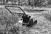 break time_5143_3 (BillRhodesPhoto) Tags: billrhodes asheville nc blackandwhite monochrome grass yard mower