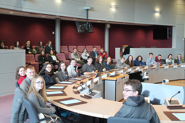 Meet your MEP - Student Visitor group from Ireland