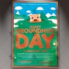 Happy Groundhog Day - Seasonal Flyer PSD Template (psdmarket) Tags: groundhogday groundhogfest groundhogfestival groundhognight groundhogparty happygroundhogday marmot punxsutawneyphil woodchuck