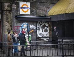 Hackney Central (London Less Travelled) Tags: uk unitedkingdom england britain london eastlondon hackney hackneycentral overground station people street art graffiti