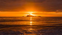 Sunrise Seascape (Merrillie) Tags: daybreak landscape nature southcoast mountains water newsouthwales sea nsw sun batemansbay beach ocean australia waterscape scenery coastal island sunrise seascape dawn coast clouds snapperisland