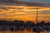 On Golden Skies (Sterling67) Tags: sunrise wangi water lakemacquarie boat outside 7d 2470 clouds reflection