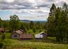 Fäbod (P. Burtu) Tags: sweden sverige fäbovall dalarna nature natur landskap landscape sommar summer clouds moln träd tree skog forest house hus shieling fäbod