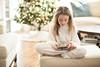 Ms C in cozy pyjamas (Colleen Foucault Photography) Tags: kamloopsbc photobycolleenrfoucaultphotography christmas2017 mscinherfuzzypajamas xmas ipad nutcracker