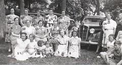 Fitzwater Reunion in Monticello, IL (nmbrd) 1939 (RLWisegarver) Tags: piatt county history monticello illinois usa il