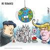 De remate (Caricaturascristian) Tags: donald trump eeuu corea del norte kim jongun mi botón nuclear es mucho más grande y poderoso