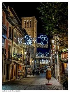 Calle de santo Tomé. Toledo. España