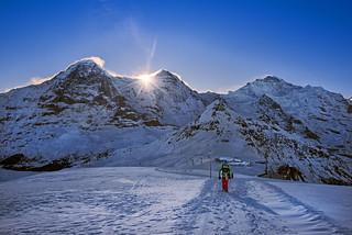 Sunrise over Männlichen.29.12.17, 10:55:06. Canton of Bern , Switzerland. No. 34698.