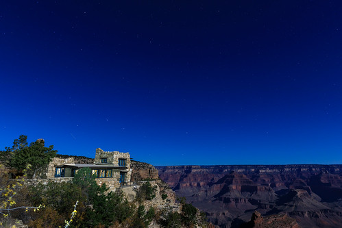 Starry sky above the Grand Canyon