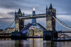 Tower Bridge (Daniel Coyle) Tags: towerbridge towerbridgeopening bridge theshard theviewfromtheshard morelondon christmas christmaslights christmastree cityhall river thames riverthames danielcoyle d7100 nikond7100 nikon london longexposure sunset dusk londondusk londonskyline reflections water bluehour