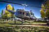 UH-1 Huey (donnieking1811) Tags: newmexico angelfire vietnamveteransmemorialstatepark uh1 huey helicopter staticdisplay aviation rotarywing outdoors trees sky blue unitedstatesarmy