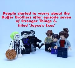 Stranger Things 3 (Barratosh#2) Tags: stranger things 3 lego minifigures beetlejuice edward scissorhands joyce byers eleven jim hopper jane crossover fun humour duffer brothers parody